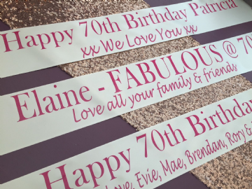 70th Birthday Banner Personalised